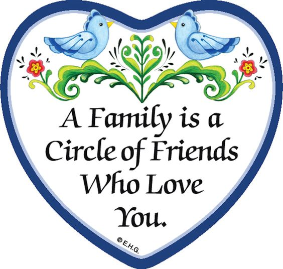 Tile Magnet: Circle of Friends: