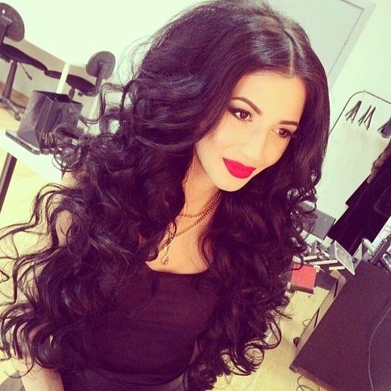 Big hair bright lips