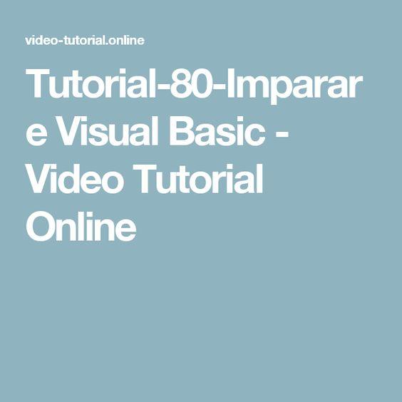 Tutorial-80-Imparare Visual Basic - Video Tutorial Online