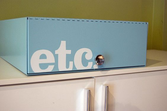 refashioned metal office box by ckilgore, via Flickr