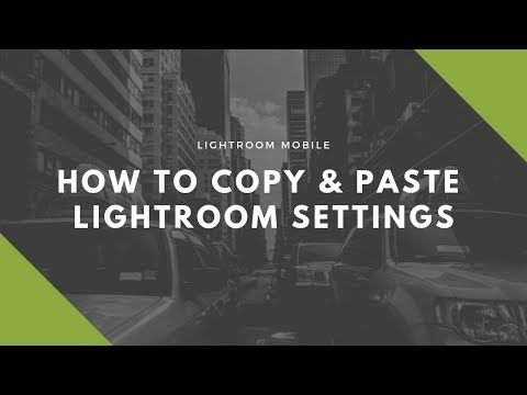 Lightroom copy settings from one photo to another