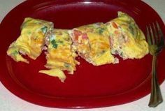 "EASY 2 egg omelets made in Ziploc's ""Zip N' Steam"" bags. Pre-make up to A WEEK ahead of time, and pop in the microwave for 2 1/2 minutes in the morning. I love omelets, but chopping the veggies in the morning isn't always in the schedule. Problem solved! I'll do all my chopping and preparing Sunday night and have a healthy breakfast all week! Love it!"