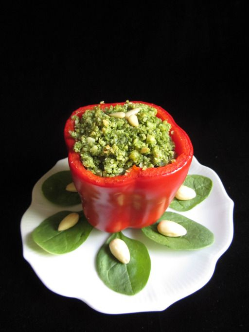 Peppers with Almond-Spinach Filling from The Lies of Locke Lamora