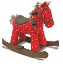 Doodle and Crumb Infant Rocker Rocking Horse red fabric Child Gift Ideas Animals Walking Toys  Buy online at www.jinneyring.co.uk