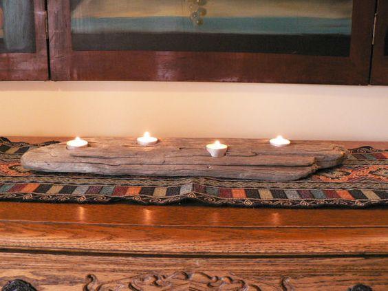driftwood mantel piece by FlotsamJetsamCrafts on Etsy, $24.00
