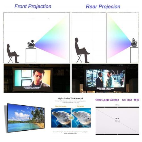 120 Inch Projector Screen Hd Foldable Portable Front Amp Rear Projection Screen Portable Pro 120 Inch Projector Screen Rear Projection Screen Projector Screen