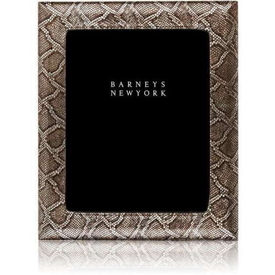 Barneys New York Viper-Stamped Studio Picture Frame (¥21,220) ❤ liked on Polyvore featuring home, home decor, frames, multi, barneys new york, black home decor, black frames and black picture frames