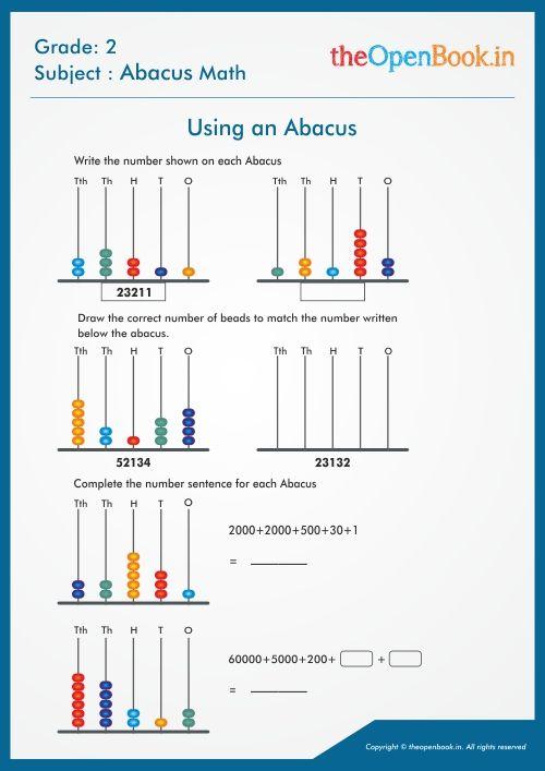 Abacus Maths Worksheets Abacus Math Mathematics Worksheets Math