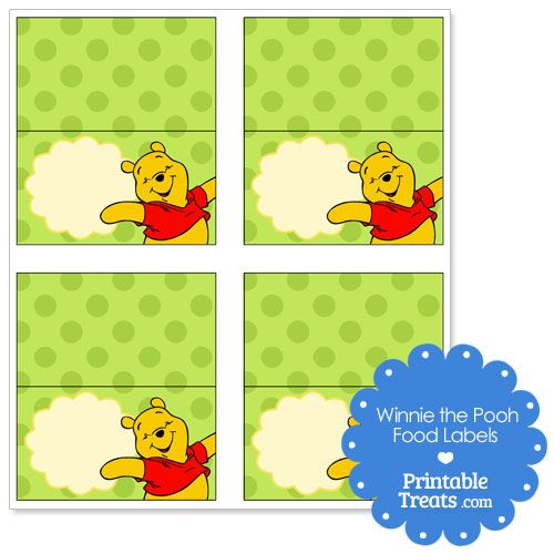 Printable Winnie The Pooh Labels For Food From