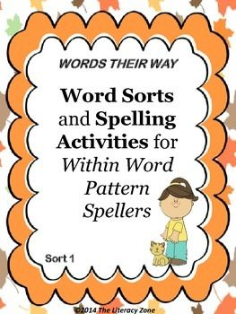 Printables Words Their Way Worksheets this packet includes activities and worksheets that support words their way within word pattern spellers sort