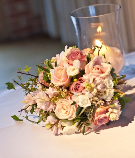 Bridal Bouquet Of Sweet Avalanche Roses, Memory Lane Roses
