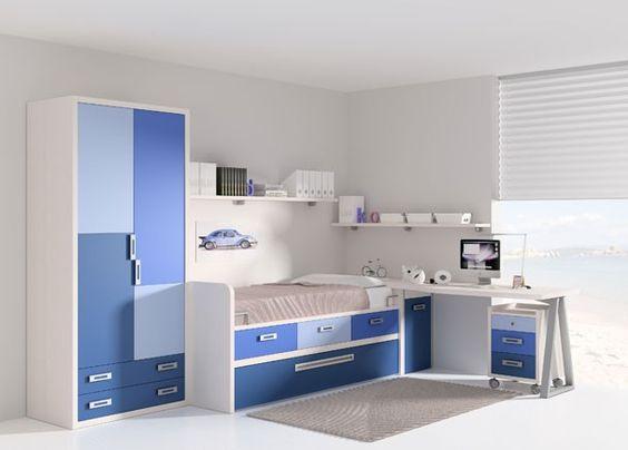Habitaci n infantil con armario de 90cms altura 215cms - Cajonera interior armario ...