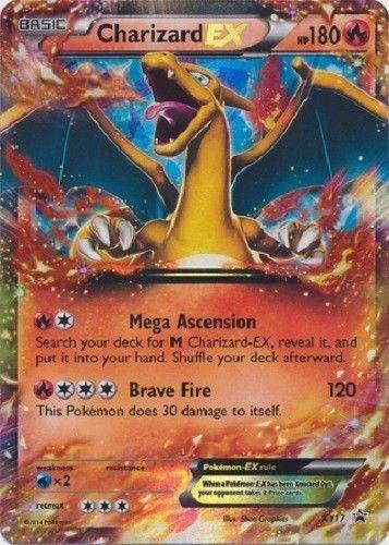 Charizard EX #XY-17 Pokemon Card (Rar... #Pokémon | Fun ...