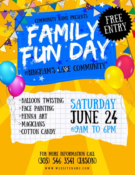 Create The Perfect Design By Customizing Easy To Use Templates In Minutes Easily Convert Your Image Designs Into Vi Family Fun Day Family Fun Kids Invitations