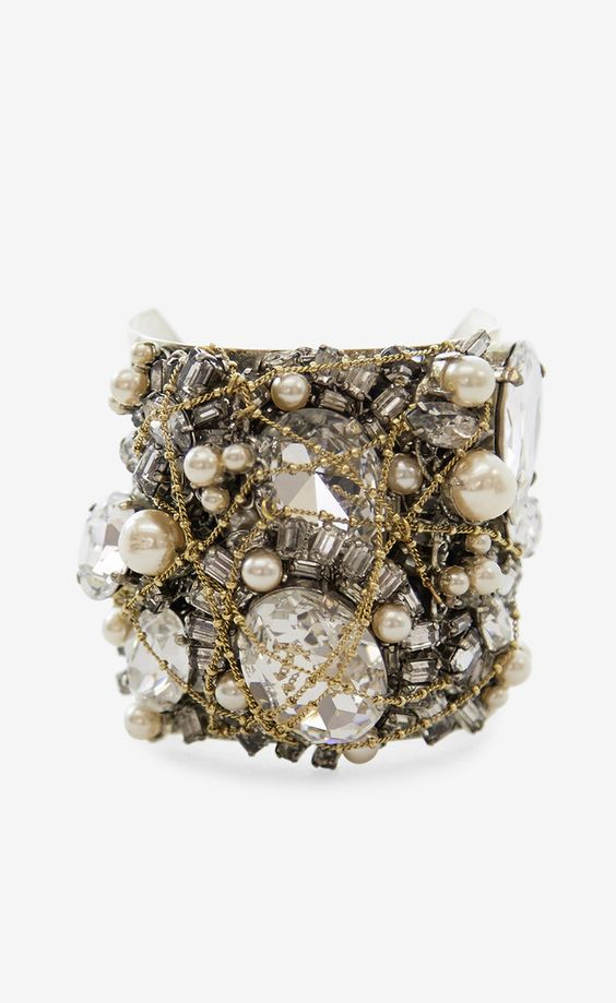 Erickson Beamon Silver, Crystal And Multicolor Bracelet: Beamon Silver, Accessories, Jewelry Bracelets Cuffs 2, Silver Bracelets, Jewelled Diamante, Ray Ban, Swasorwaski Crystals