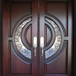 Bgw unidad bgw 580e de madera de caoba puerta esta - Puertas de madera con cristal ...
