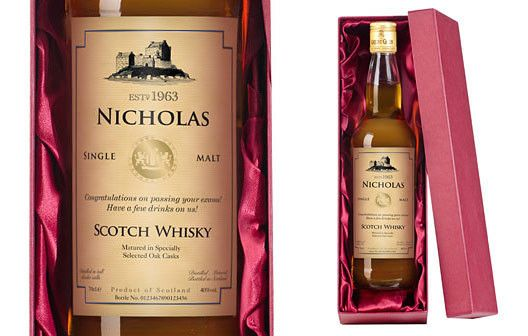 Now with Free Delivery! Gift one of the finer things in life with this classic personalised single malt whisky.