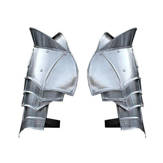 Steel Warrior Pauldron Medieval Shoulder Armor Set ❤ liked on Polyvore featuring armor, armour, game of thrones and accessories