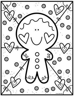 Gingerbread Man Desenho De Natal Criancas Para Colorir