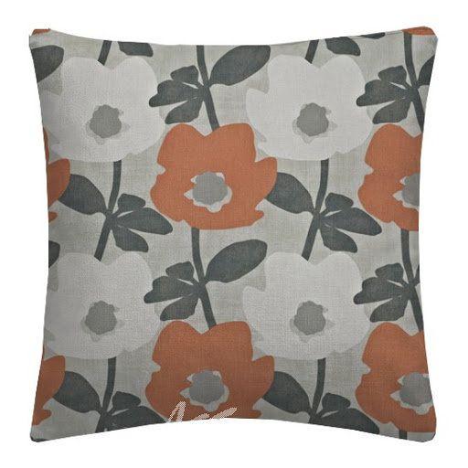 "14/"" 16/"" 18/"" New Cushion Cover Mango Orange Blue Floral Print Handmade"