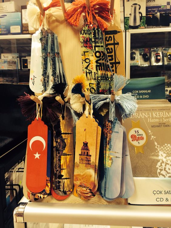 Turkey themed bookmarks in a book store/ Türkiye temalı kitap ayraçları