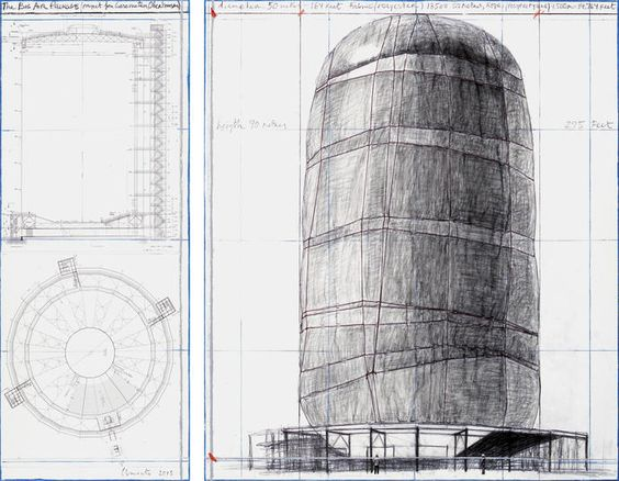 The Big Air Package (Project for Gasometer, Oberhausen) - Christo and Jeanne-Claude