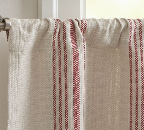 Cafe Curtains Curtains And Pottery On Pinterest