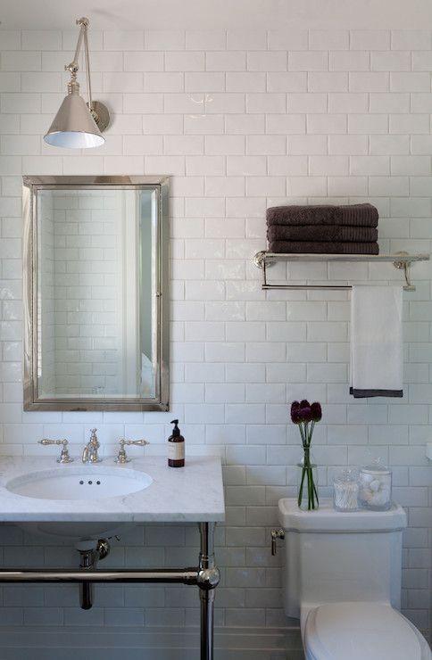 Marie Christine Design Bathrooms Train Rack Towel