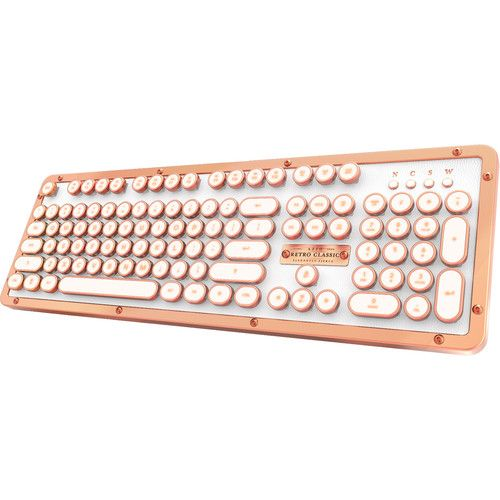 Azio Retro Classic Bt Wireless Backlit Mechanical Keyboard Posh Keyboard Buy Computer Computer Keyboard
