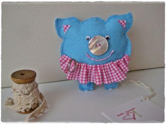 Sparschweinchen  Geldgeschenk  Glücksbringer von Wollfi auf DaWanda.com