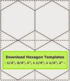 Geta s Quilting Studio: Tips for cutting hexagon templates Hexagon Quilt Pinterest ...