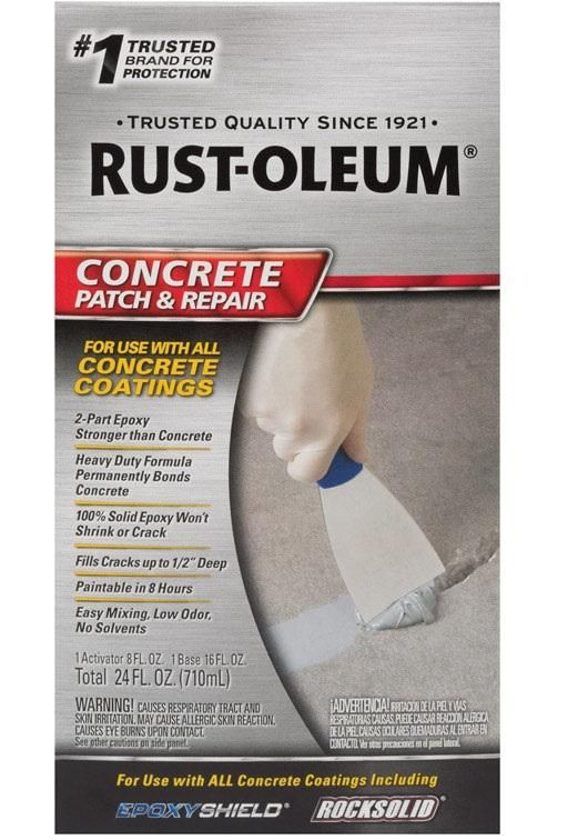 Rust Oleum 301012 Concrete Patch And Repair 24 Oz Satin Finish Repair Concrete Rustoleum