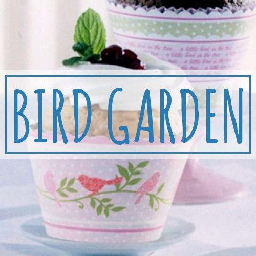 Traumhaft schöne Muffinförmchen mit Vogel- und Pflanzen-Motiven. #Muffinförmchen