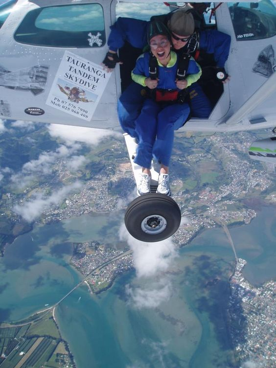 Tandem Skydive Over #Tauranga, New Zealand! - they hadn't started tandem jumping when I 1st jumped..........