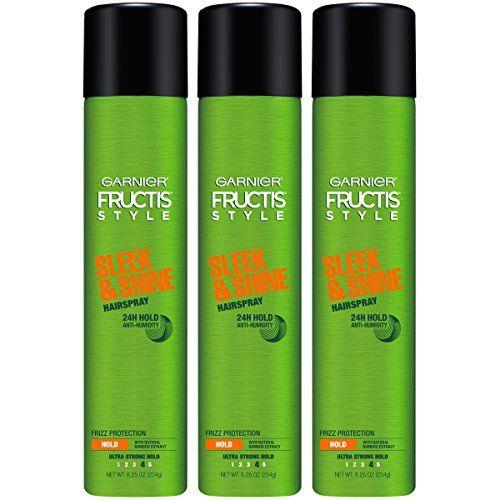 Garnier Fructis Style Sleek Shine Hairspray All Hair Types 8 25 Ounce Pack Of 3 Packagi In 2020 Hairspray Anti Frizz Products Anti Humidity Hair Spray