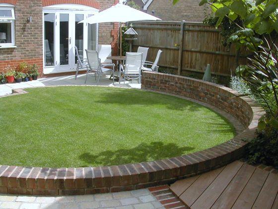 Garden Design Circular Lawns outdoor creations - professional small garden design portfolio