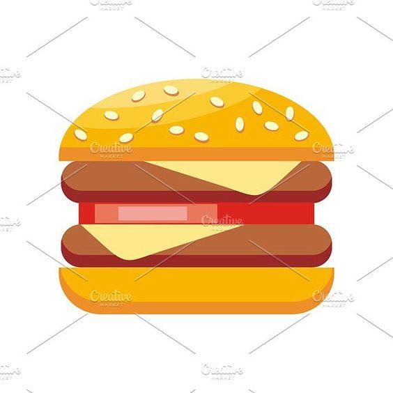 Burger Hamburger Isolated. Objects. $3.00