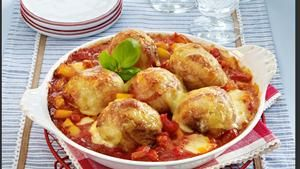 Rezept Mozzarella-Knödel im Speckmantel