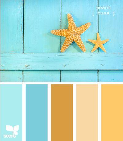 beach hues - the perfect beach palette