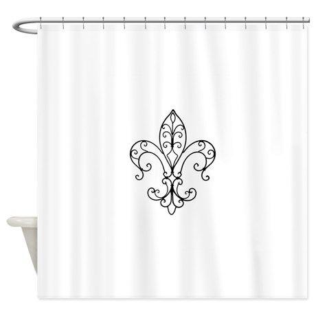 Shower Curtain On Fleur De Lis Pinterest Showers Curtains And Shower Curtains
