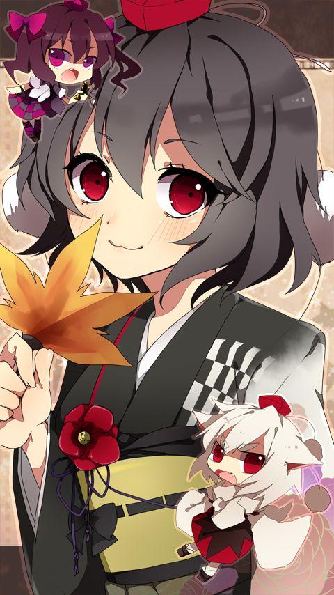 Aya Shameimaru, ace tengu reporter from the Touhou games.