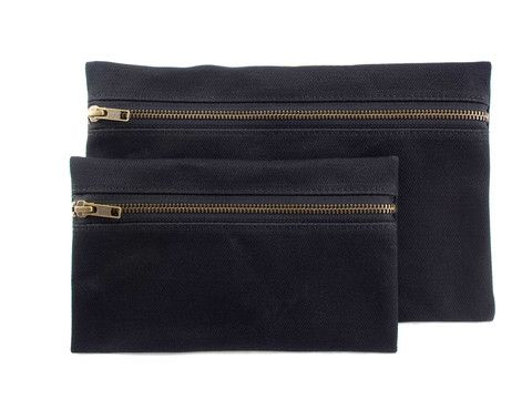 Waxed Canvas Envelope Pouch Set | bags pouches & travel accessories | handmade in the usa | Wovenn