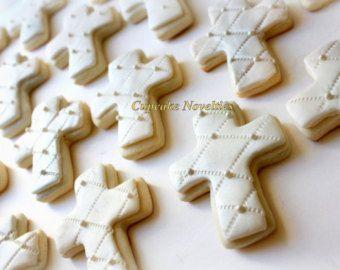 Primera comunión bautizo Cruz galletas bautizo por CupcakeNovelties