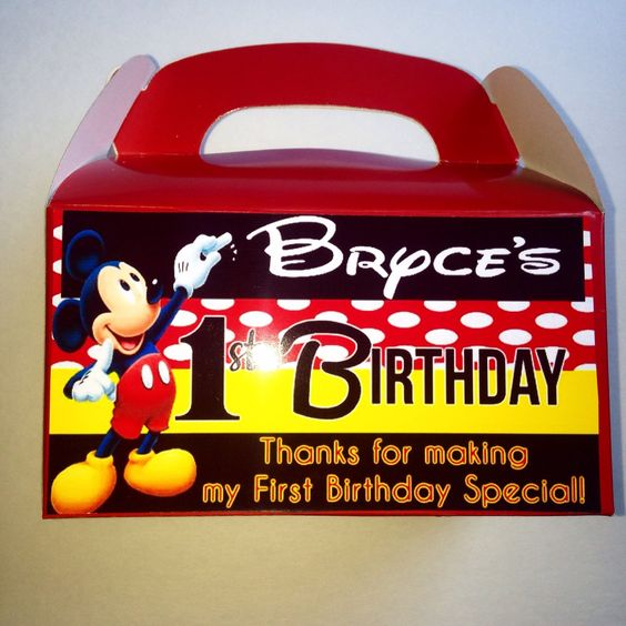 Mickey mouse inspired Party boxes, Party favors,Frozen party favors, party favor ideas, birthday party ideas READ DESCRIPTION!