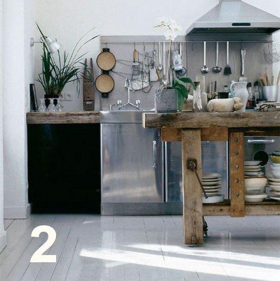 Keuken Werkbank Hout : houten werkbank keuken Feel at Home Pinterest