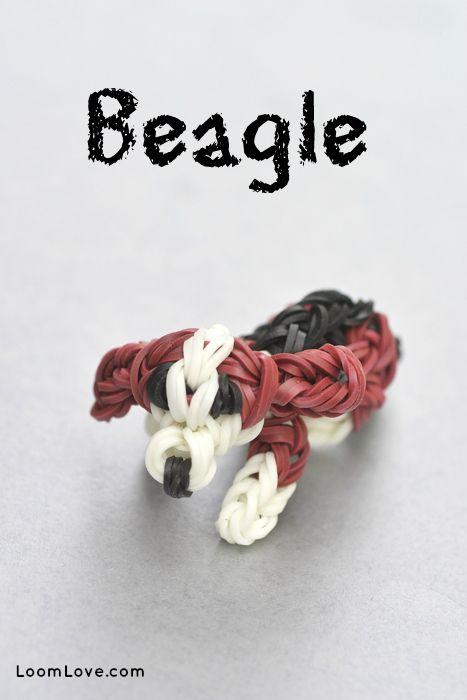 How to Make a Rainbow Loom Beagle Charm