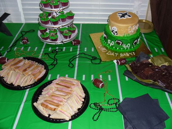 Who Dat Baby Shower Black & Gold Baby Shower New Orleans Saints ...