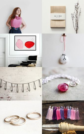 Pops of Pink. by TheBand on Etsy--Pinned with TreasuryPin.com