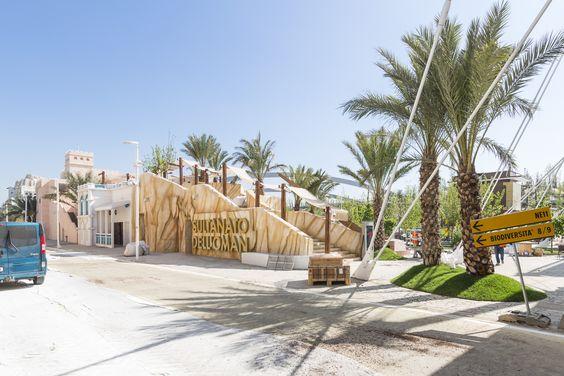 l'esterno del padiglione Oman