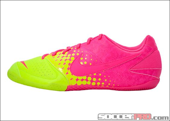 nike nike5 elastico indoor soccer shoes pink flash with